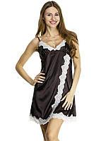 Ночная сорочка атлас Serenade 442 Шоколадный-экри