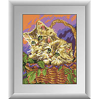 "Набор для рисования камнями ""Котята в корзине"""
