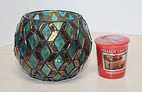 Набор подсвечник и свеча Village Candle Клубника