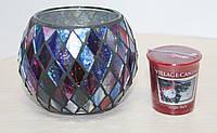 """Набор подсвечник и свеча Village Candle """"Jingle Bells"""""""