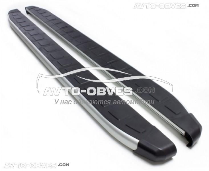 Защитные боковые подножки площадки для Chevrolet Niva (стиль Porsche Cayenne Erkul)