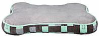 Матрац Trixie Bones Blanket плюш и полиэстер, серый с мятным, 80х54 см, фото 1