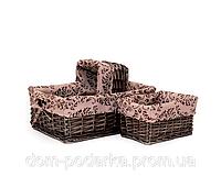 Набор корзин ручной работы плетение из лозы купить в Харькове оптом