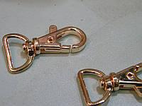 Карабин 15 мм золотого цвета (50 штук)