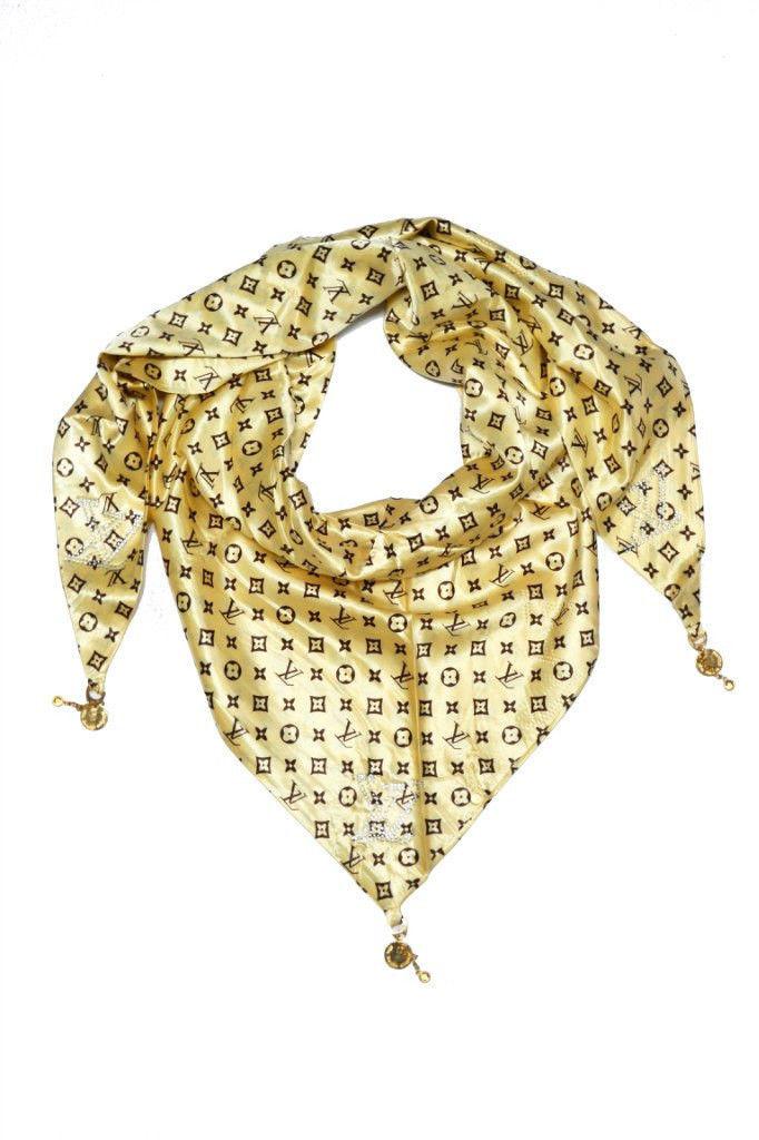Косынка атласная Louis Vuitton
