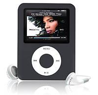 """MP3 плеер 4GB 2"""" экран(копия под Ipod nano 3rd,новый) ЧЕРНЫЙ SKU0000451"""