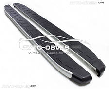Подножки боковые для Suzuki Grand Vitara (стиль Porsche Cayenne)