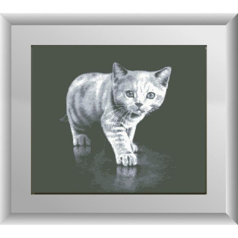 """Набор для рисования камнями """"Серый котенок"""""""