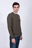 Цветной тонкий мужской джемпер с круглой горловиной
