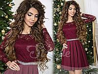 Стильное молодежное платье со стразами 7 цветов