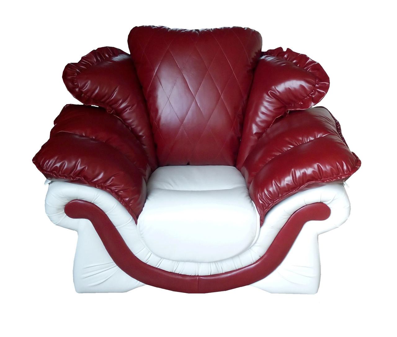 """Элегантное кожаное кресло """"Loretta"""" (Лоретта). (118 см)"""