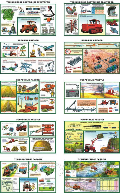 """""""Безопасность работ в сельском хозяйстве"""" (10 плакатов, ф. А3)"""