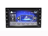 Автомагнитола с дисплеем DVD 2 DIN, поддержка флэшек USB, карт памяти SD, MMC, ДУ, мощность 4х45 Вт