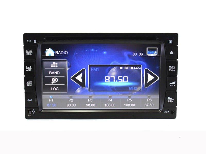 Автомагнитола с дисплеем DVD 2 DIN, поддержка флэшек USB, карт памяти SD, MMC, ДУ, мощность 4х45 Вт - Интернет магазин «Наш базар» быстро, доступно и качественно в Киеве