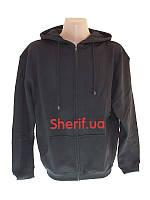 Толстовка черная с капюшоном Max Fuchs Hooded-Sweater-Jacket Black  00622A