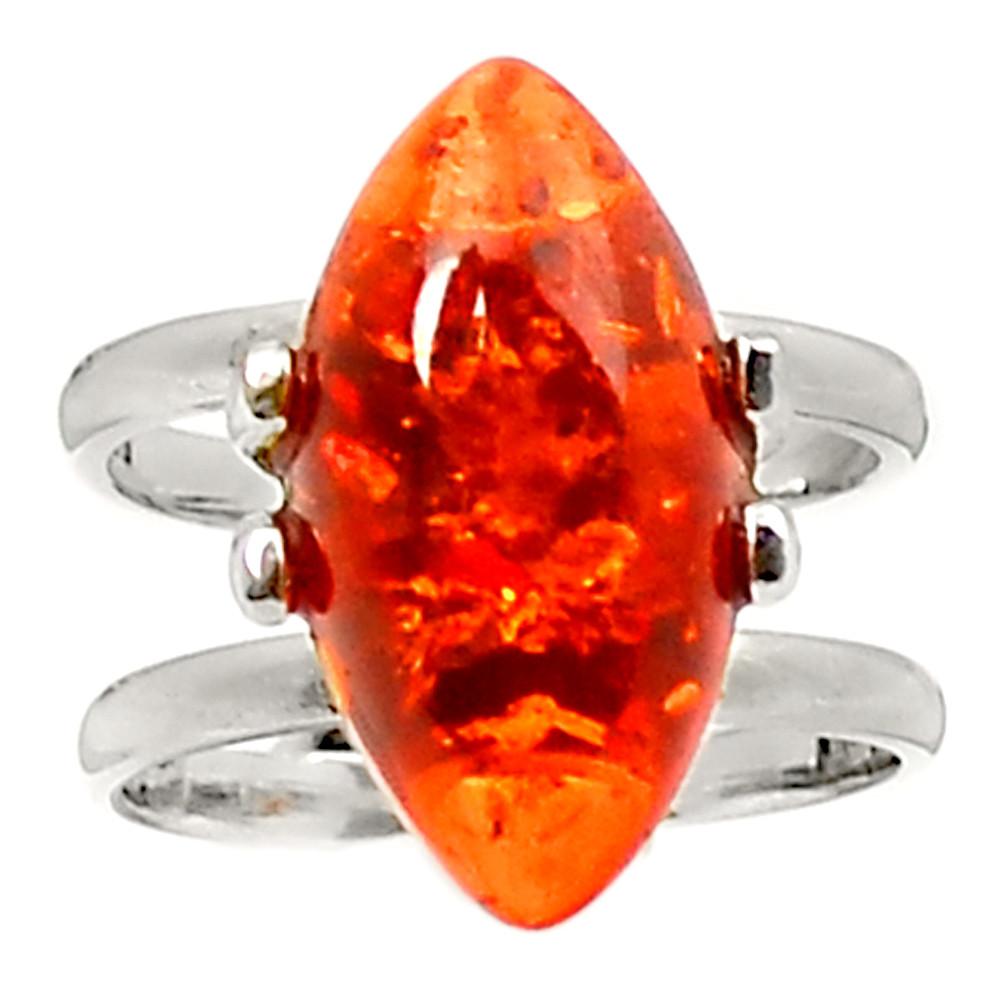Янтарь, серебро 925, кольцо, 267КЦЯ