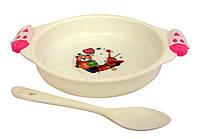 Набор из тарелки и ложки для детей