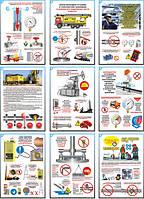 """""""Охрана труда при разработке нефтяных и газовых месторождений"""" (9 плакатов ф. А3)"""