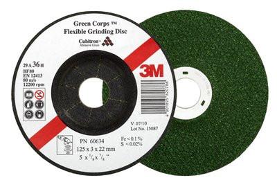 Зачистной круг 60634 3М™ Green Corps™, Р36 125*3*22мм