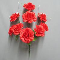 Роза флорибунда (9 голов) букет искусственный