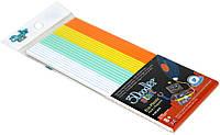 Набор стержней для 3D ручки 3Doodler Start Микс (24шт, белый, мятный, желтый, оранжевый)