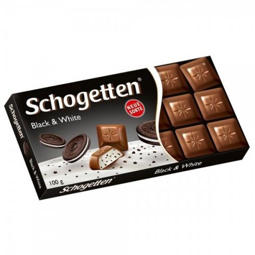 Шоколад Shogetten Black & White (Шогеттен крем и печенье) 100 г. Германия