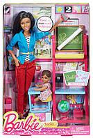 Набор кукла Барби Никки учитель с малышкой-ученицей и аксессуарами