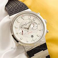 Мужские наручные часы Бельгийской сборки Ulysse Nardin silver white