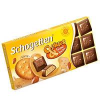 Шоколад Shogetten Cookies Peanut Butter (Шогеттен кремовая начинка с кус. соленого крекера) 100 г. Германия