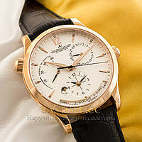 Механические мужские часы элегантные Jaeger-LeCoultre automatique gold white