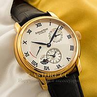 Мужские наручные часы Швейцарские Audemars Piguet Jules DUAL TIME gold white