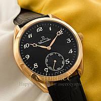 Наручные мужские часы элегантные Omega Aqua Terra gold black