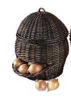 Функциональная корзина ручной работы  для хранения овощей и фруктов купить в Харькове недорого