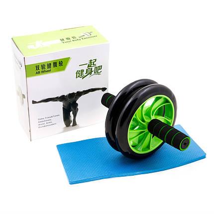 Ролик гімнастичний подвійний AB Wheel D200мм, фото 2