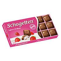Шоколад Shogetten Joghurt Erdbeer (Шогеттен с клубникой и сливками) 100 г. Германия