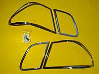 Накладки хром на задние фонари (стоп сигнал) Mercedes w210 1995 - 2002 TLCBZ56E Wellstar