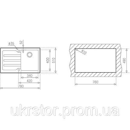 Кухонная мойка TEKA LUX 1B 1D LHD 78  полированная, фото 2