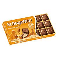 Шоколад Shogetten Mandelkrokant (Шогеттен мендальный крем и карамелизированый мендаль) 100 г. Германия