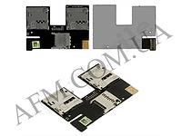 Конектор Sim и карты памяти для HTC 500 Desire Dual Sim,   на шлейфе,   на две SIM- карты