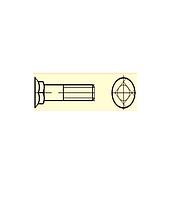 Болт лемешный с потайной головкой и квадратным подголовком кл.пр. 4.8; 5.8