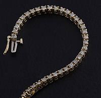 Женский браслет из желтого золота с бриллиантами С6Л2№40