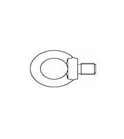 Болт с кольцом (Рым болт) DIN 580 сталь