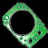 Прокладка головки блока КАМАЗ с металлическим каркасом зеленый силикон 740.30-1003213