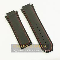 Для часов каучуковый ремешок Hublot king power f1 black 30мм (05596), фото 1