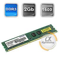 Модуль памяти DDR3 2Gb Patriot (PSD32G160081) 1600