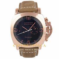 Мужские часы Швейцарские Panerai Luminor Marina gold black