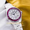 Женские наручные часы pink white (05713)