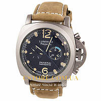 Мужские часы элегантные Panerai Luminor Regatta silver black