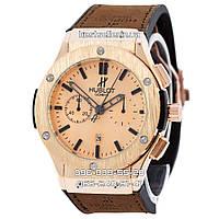 Часы Hublot 913 (Кварц) Gold/Brown (UNISEX). Реплика, фото 1