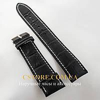 Кожаный ремешок для часов Vacheron Constantin 20 мм черный (05780)